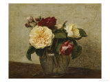Red and Yellow Roses, 1879 Giclee Print by Henri Fantin-Latour
