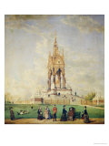 The Albert Memorial, London, 1877 Giclee Print by Edwin Frederick Holt