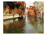 Bakvatten i Venedig Gicléetryck av Fritz Thaulow
