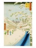 Yabu Street Below Atago Premium Giclee Print by Ando Hiroshige