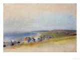 Houses on the Cliff Edge at Villers-Sur-Mer, 1869 Premium Giclee Print by Edgar Degas