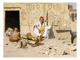 Seller of Artefacts, Dated 1885 Giclée-Druck von Raphael Von Ambros