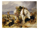 The Wood Cutter Poster by Edwin Henry Landseer