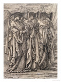 "Study for ""The Challenge in the Wilderness"", circa 1875 Prints by Edward Burne-Jones"