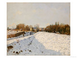 Snow at Argenteuil, 1874 Poster by Alfred Sisley