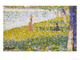 Women on the River Bank Prints by Georges Seurat