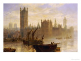Westminster from the Thames Giclee Print by Claude T. Stanfield Moore