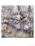Gathering Bluebells, 1909 Giclee Print by Edward Atkinson Hornel