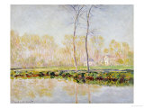The Banks of the River Epte at Giverny, 1887 Art by Claude Monet