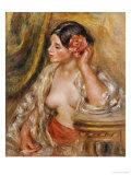 Gabrielle a Sa Coiffure, 1910 Giclee Print by Pierre-Auguste Renoir
