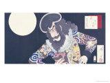 The Actor Ichikawa Danjuro IX in the Role of the Pirate Kezori Kuemon Giclee Print by Tsukioka Kinzaburo Yoshitoshi