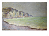 Cliffs at Pourville, 1896 Giclee Print by Claude Monet