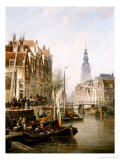 Amsterdam, 1896 Premium Giclee Print by Cornelis Christiaan Dommershuizen