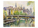 Le Pont Neuf, Paris Giclee Print by George Leslie Hunter
