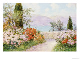 The Gardens of the Villa Melzi on Lake Como Reproduction proc&#233;d&#233; gicl&#233;e par Friederich Arnold