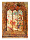 The Stained Glass Window Giclee Print by Odilon Redon