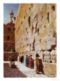 At the Wailing Wall Giclee Print by Charles Robertson