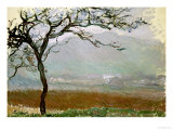 Giverny Countryside Giclee Print by Claude Monet