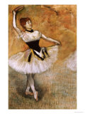 Dancer with a Tambourine, 1882 Prints by Edgar Degas
