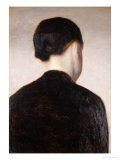 A Girl from Behind, Half Length, circa 1884 Giclee Print by Vilhelm Hammershoi