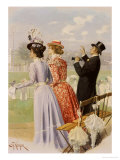 At the Races Giclee Print by Carl Hermann Kuechler
