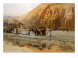 Temple D'abou Simbel, La Fete Du Pharoan Lmina gicle por Frederick Arthur Bridgman