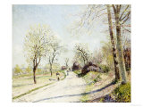 The Road from Veneux to Moret on a Spring Day, 1886 Posters by Alfred Sisley