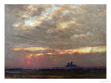 Lincoln Cathedral at Sunset, 1912 Giclee Print by Albert Goodwin