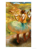 Two Dancers in Green Skirts, 1895 Posters by Edgar Degas