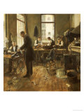 The Tailors Premium Giclee Print by Leon Bartholomee
