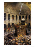 The Sacred Fire of Jerusalem Giclee Print by Eug&#232;ne Girardet