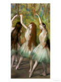 Green Dancers, 1878 Poster by Edgar Degas