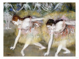Dancers Bending Down Premium Giclee Print by Edgar Degas