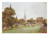 Mrs. Jacobs Garden Giclee Print by Ernest Arthur Rowe