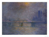 Charing Cross Bridge, the Thames Giclee Print by Claude Monet