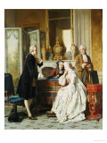 The Suitor, 1860 Art by Jean Carolus