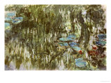 Water Lilies, Reflected Willow, circa 1920 Giclee Print by Claude Monet