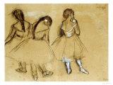 Three Dancers Giclée-tryk af Edgar Degas