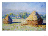 Haystacks, Morning Effect Giclee Print by Claude Monet