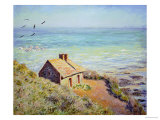 The Customs Hut, Morning, 1882 Giclée-tryk af Claude Monet