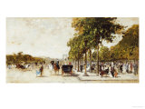 Les Champs Elysees, Paris, 1894 Print by Luigi Loir