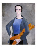 Girl with Bread, 1926 Prints by Christopher Wood