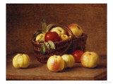 Apples in a Basket on a Table Impression giclée par Henri Fantin-Latour