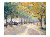 Hyde Park, London, 1890 Print  by  Camille Pissarro
