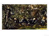 The Prince Entering the Briar Wood Posters by Edward Burne-Jones