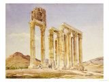 The Temple of Olympian Zeus, Athens, 1849 Giclee Print by A. Lavezzari