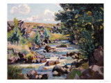 Pontgibaud Countryside, 1893 Prints by Armand Guillaumin
