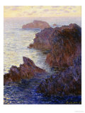 Claude Monet - Rocky Point at Port-Goulphar - Giclee Baskı