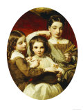 Portrait of the Russell Sisters, 1858 Prints by James Sant