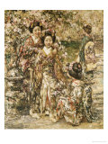 In a Kyoto Garden, 1922 Giclee Print by Edward Atkinson Hornel
